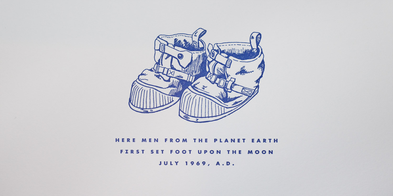 Workhorse Printmakers Space Boots Letterpress Print