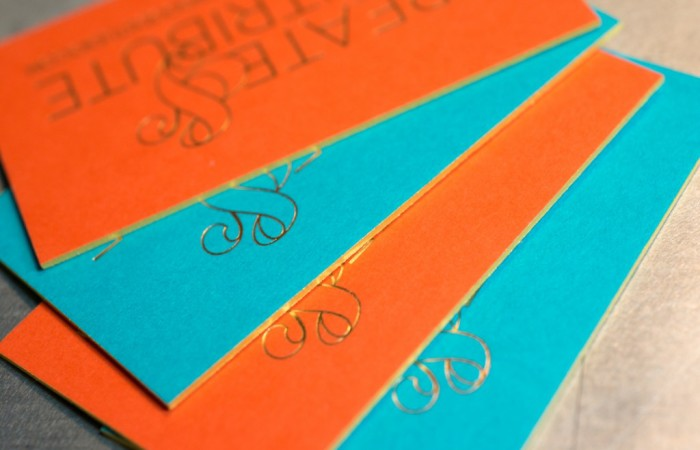 Letterpress and foil stamped business card | Workhorse Printmakers | Houston, Austin, Dallas, Texas