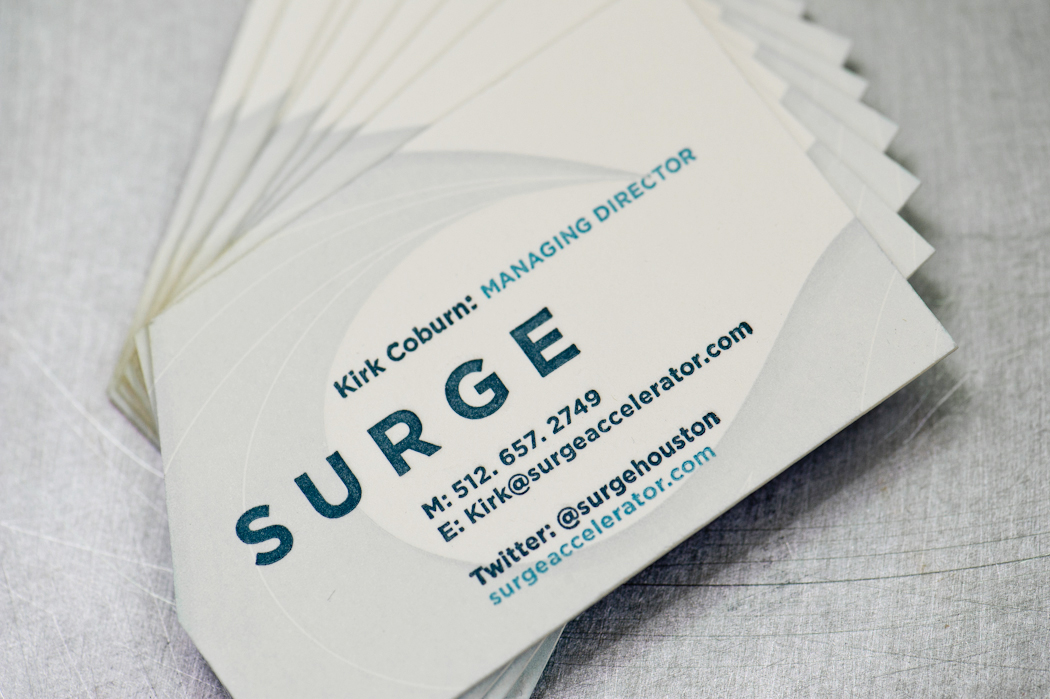 Surge business cards, Workhorse Printmakers | Workhorse Printmakers ...