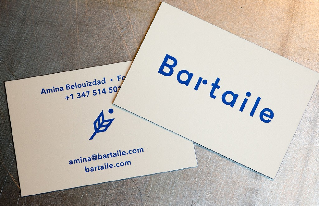 Bartaile letterpress business cards | Workhorse Printmakers