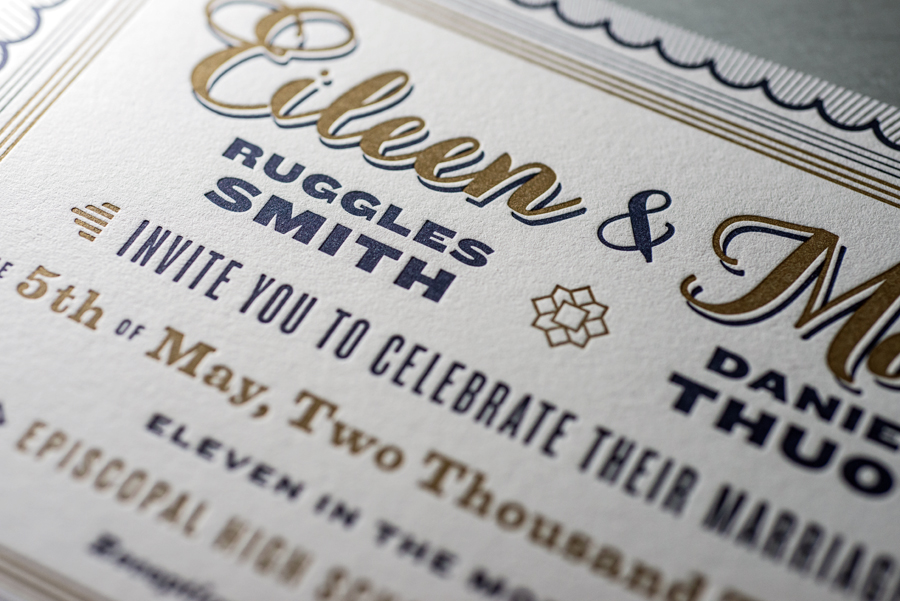 Detail of the invitation.