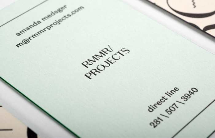 RMMR Projects Letterpress Business Cards | Workhorse Printmakers | Houston, Austin, Dallas, Texas