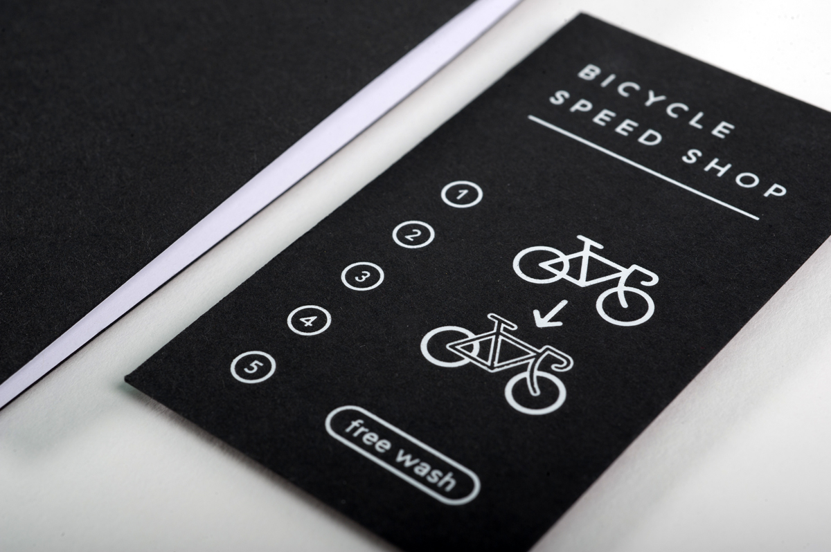 Bicycle Speed Shop Letterpress foil stamping stationery | Workhorse Printmakers | Houston, Austin, Dallas, San Antonio, Texas